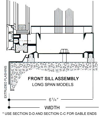 front sill assembly long span models
