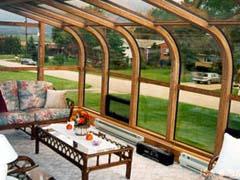 Curved Eave Woodclad Sunroom